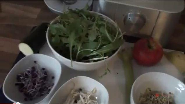Ein bunter Mix Gesundheit - Grüne Smoothies