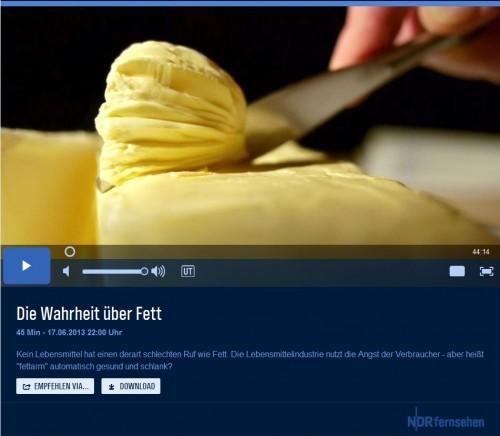 Video-Screen NDR Doku - Die Wahrheit übers Fett