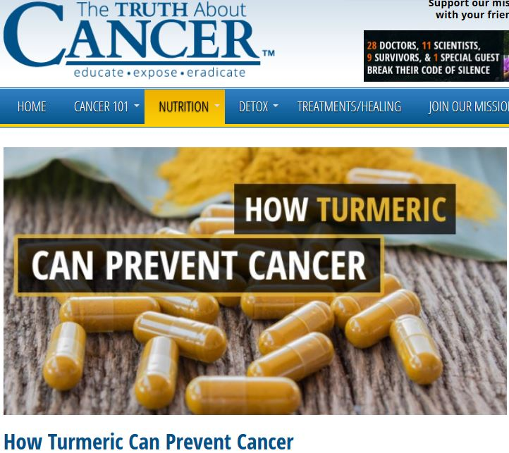 Artikel: Wie Kurkuma Krebs vorbeugen kann